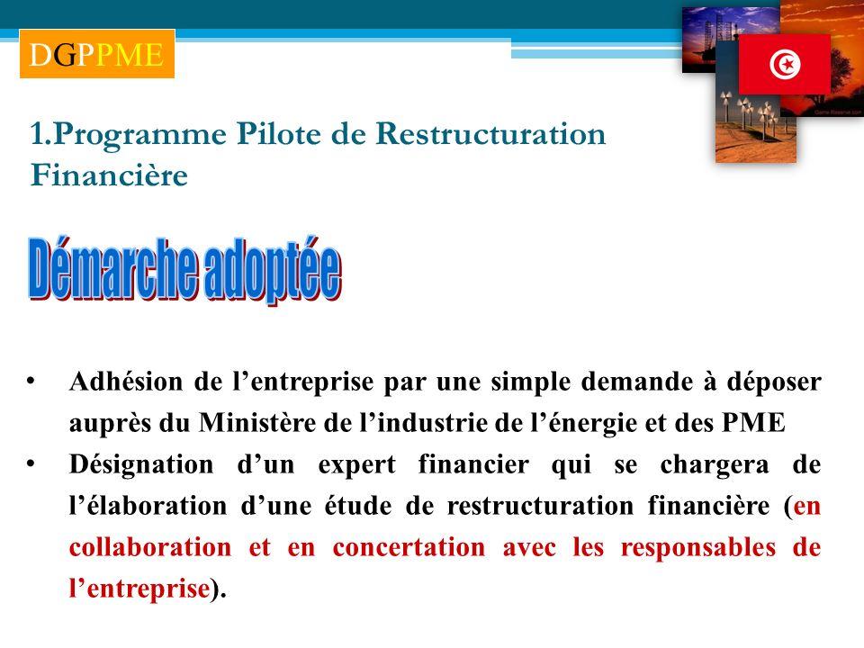 Démarche adoptée 1.Programme Pilote de Restructuration Financière