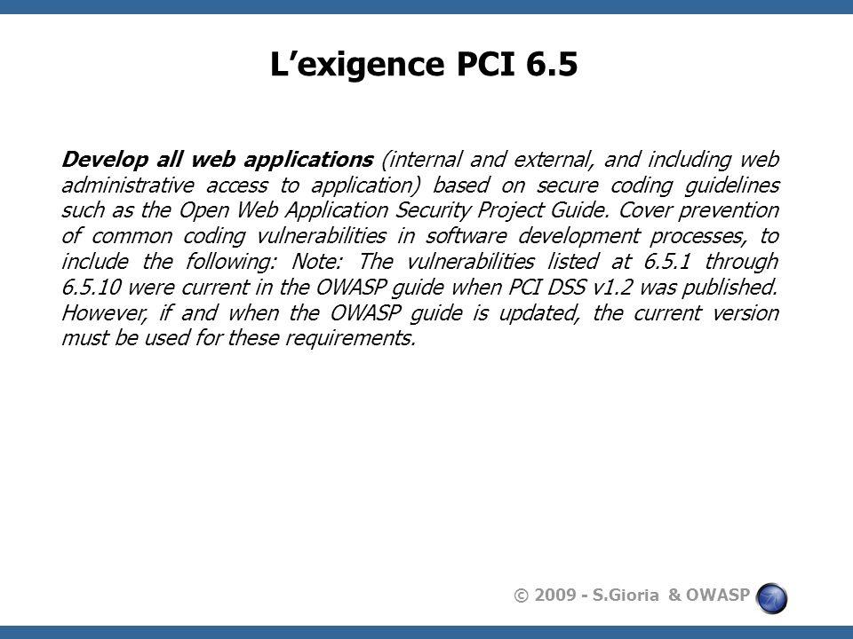 L'exigence PCI 6.5