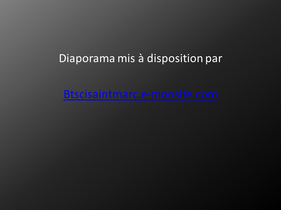 Diaporama mis à disposition par