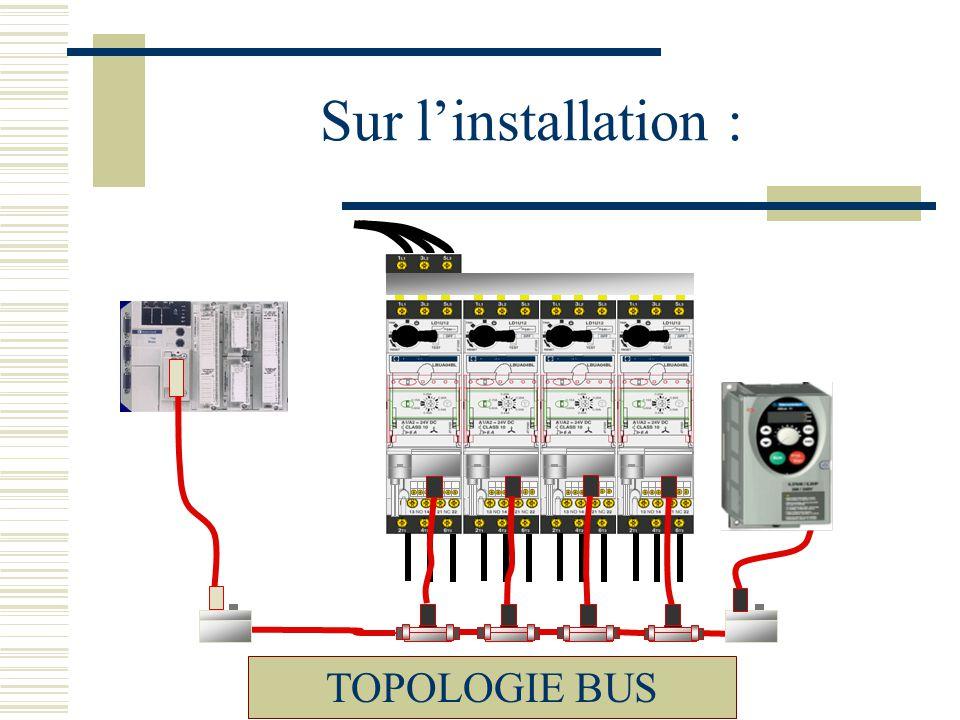 Sur l'installation : TOPOLOGIE BUS