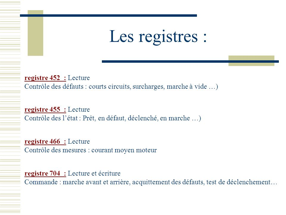 Les registres : registre 452 : Lecture