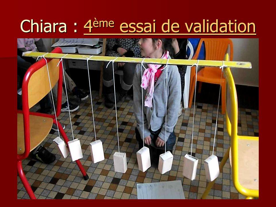 Chiara : 4ème essai de validation