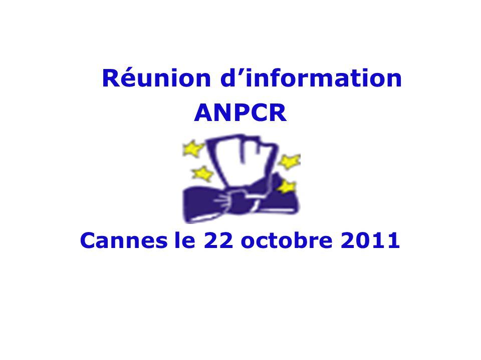 Réunion d'information ANPCR