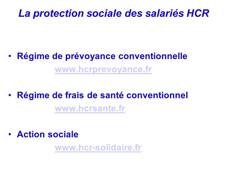La protection sociale des salariés HCR