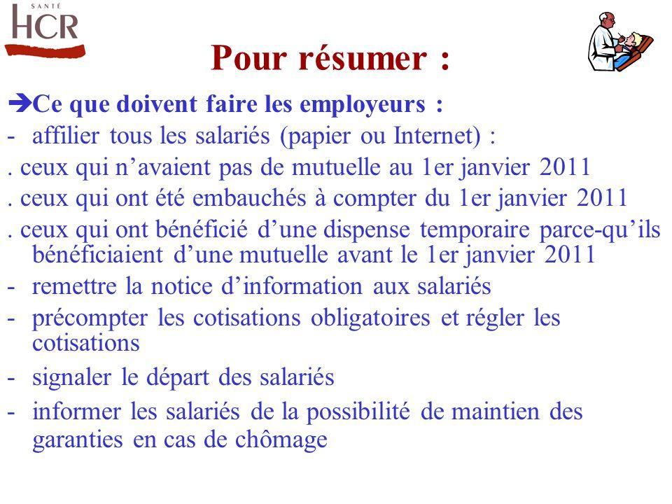 Pour résumer : Ce que doivent faire les employeurs :