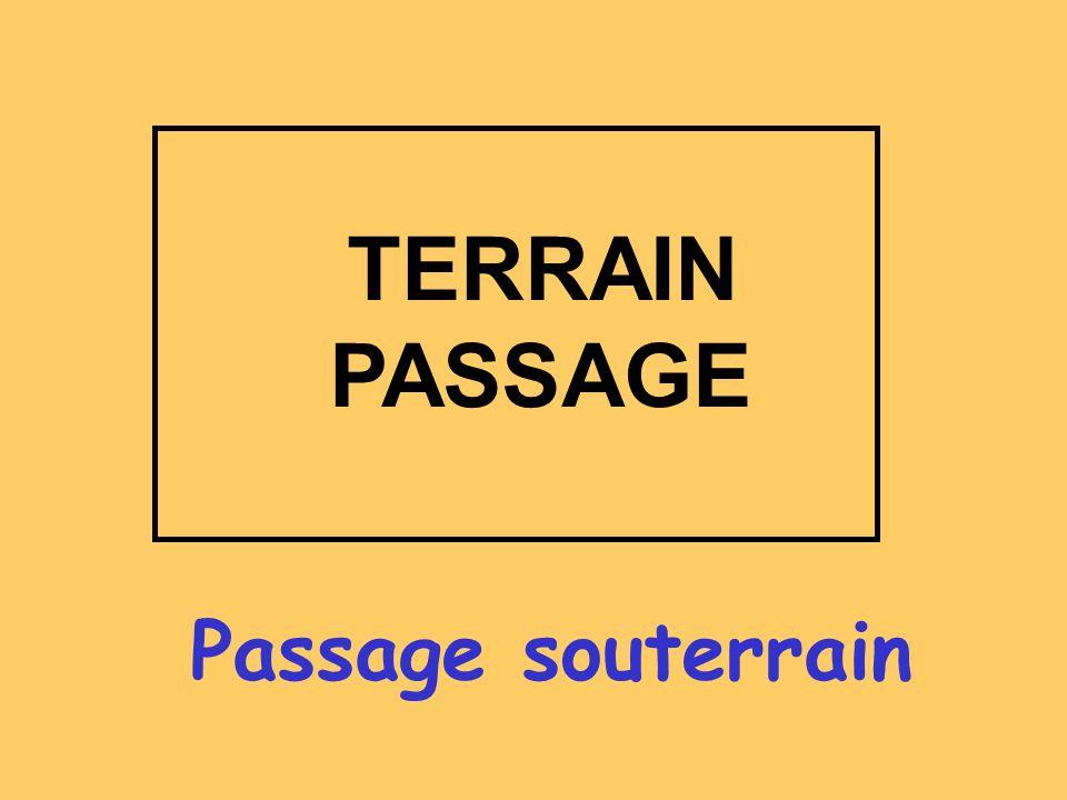 TERRAIN PASSAGE Passage souterrain