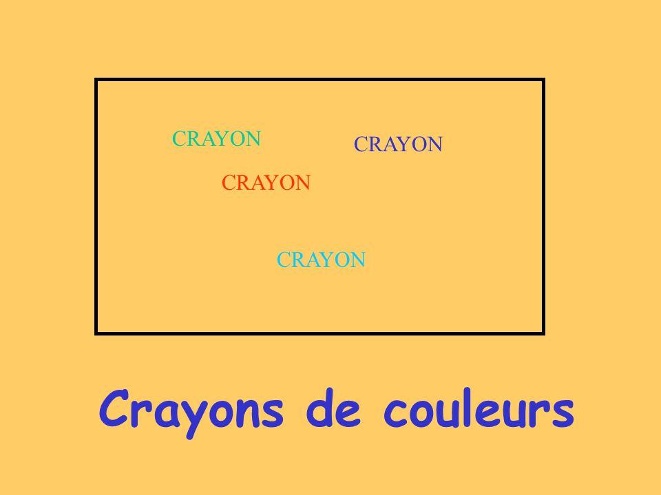CRAYON CRAYON CRAYON CRAYON Crayons de couleurs