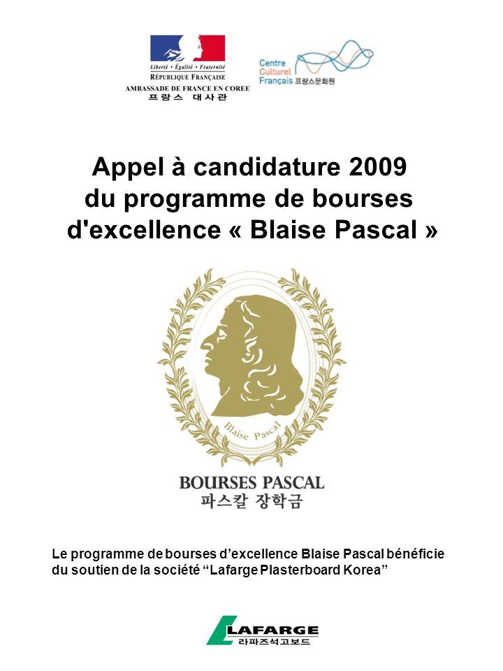 du programme de bourses d excellence « Blaise Pascal »