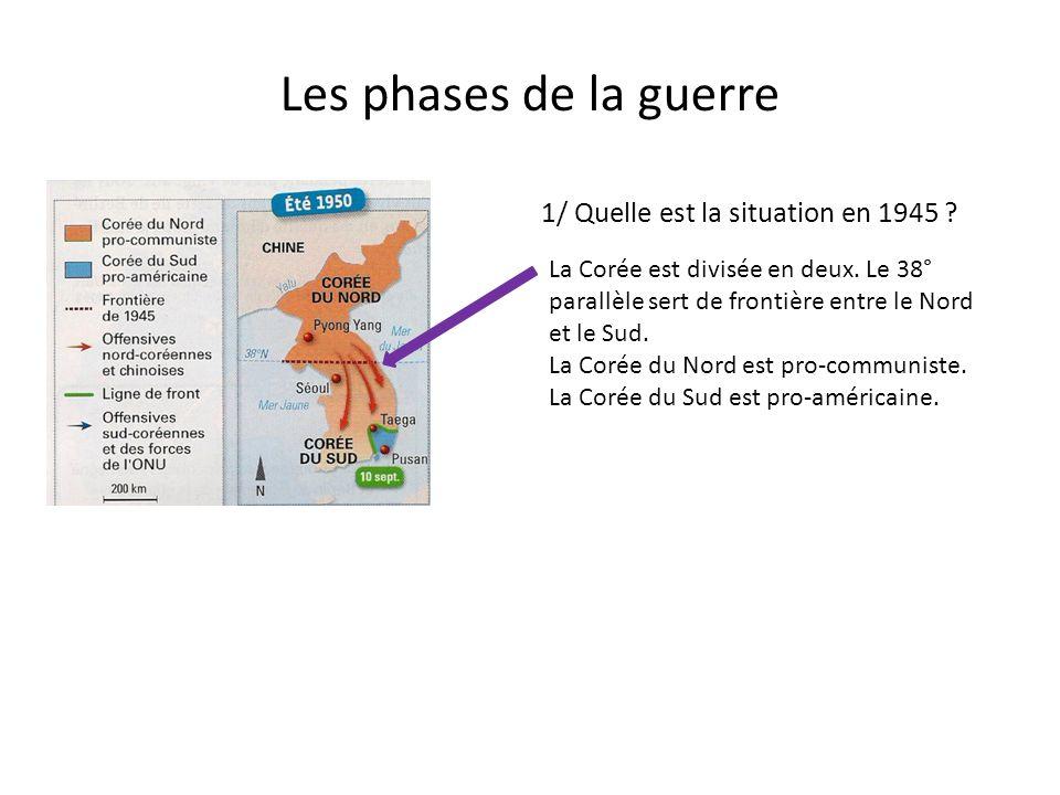 Les phases de la guerre 1/ Quelle est la situation en 1945