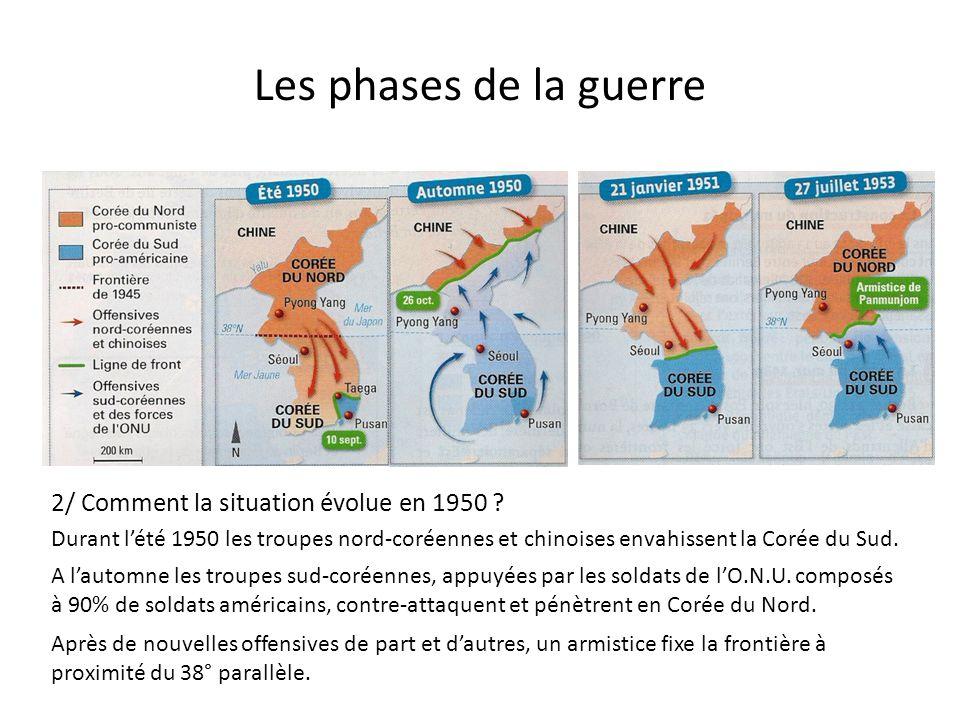 Les phases de la guerre 2/ Comment la situation évolue en 1950