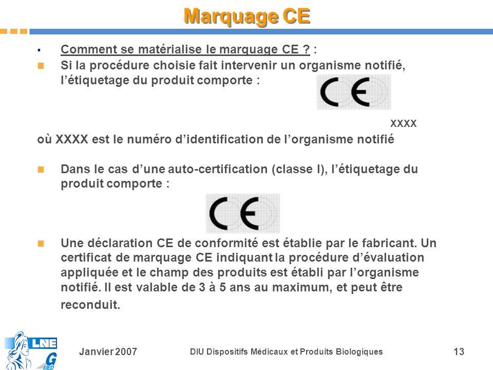 Marquage CE Comment se matérialise le marquage CE :