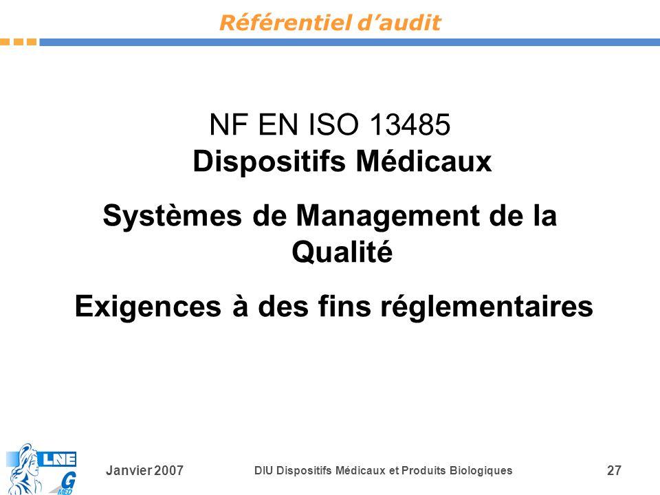 NF EN ISO 13485 Dispositifs Médicaux