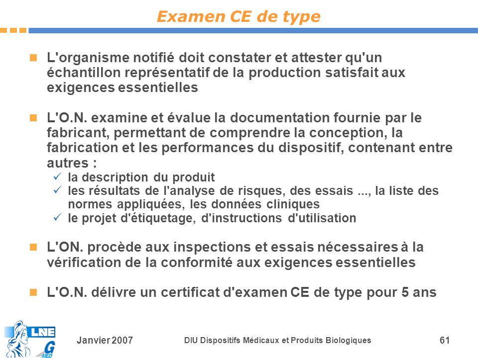 Examen CE de type