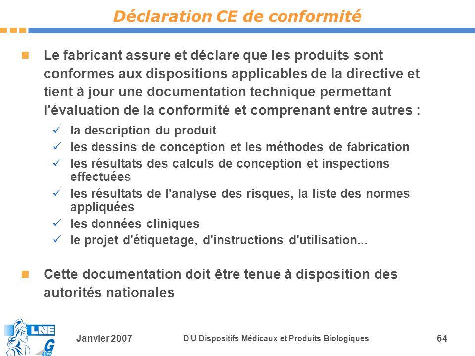Déclaration CE de conformité
