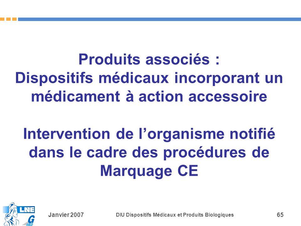 Produits associés : Dispositifs médicaux incorporant un médicament à action accessoire Intervention de l'organisme notifié dans le cadre des procédures de Marquage CE