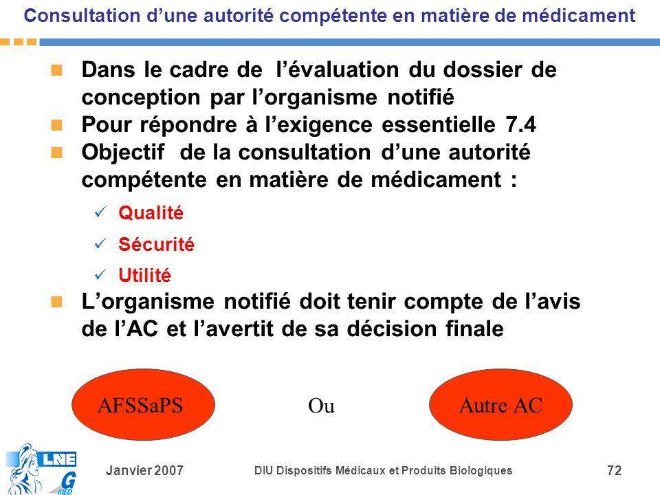 Consultation d'une autorité compétente en matière de médicament