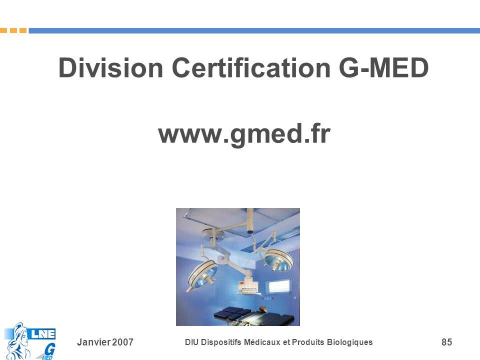 Division Certification G-MED www.gmed.fr