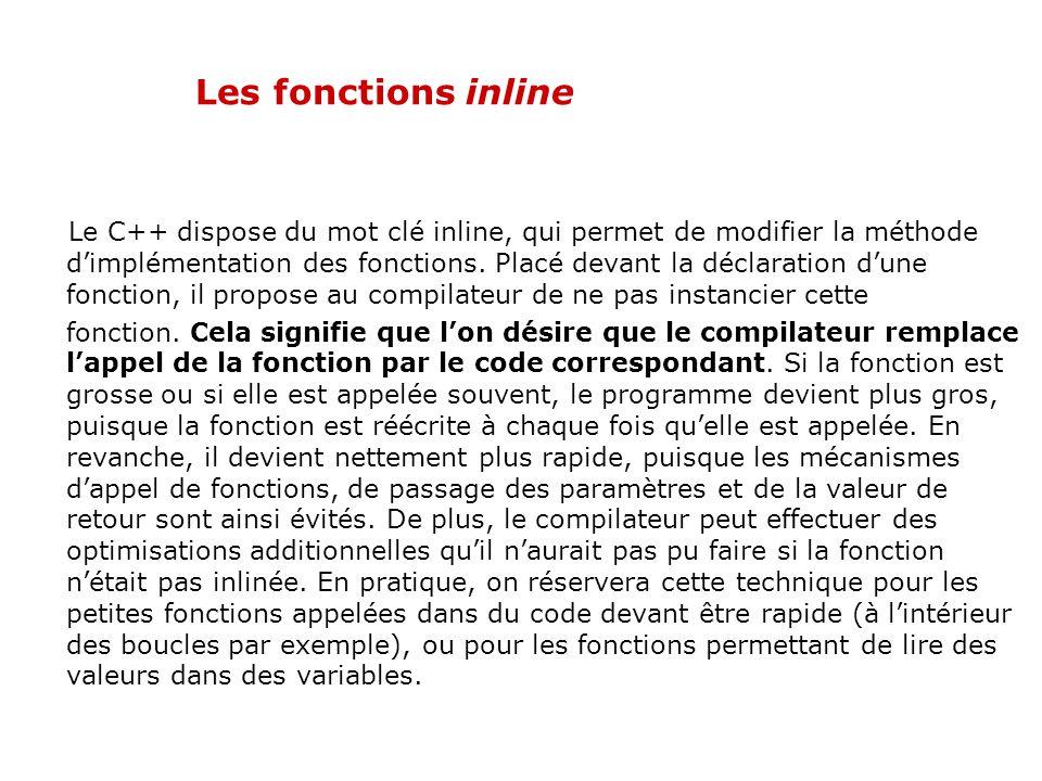 02/04/2017 Les fonctions inline.