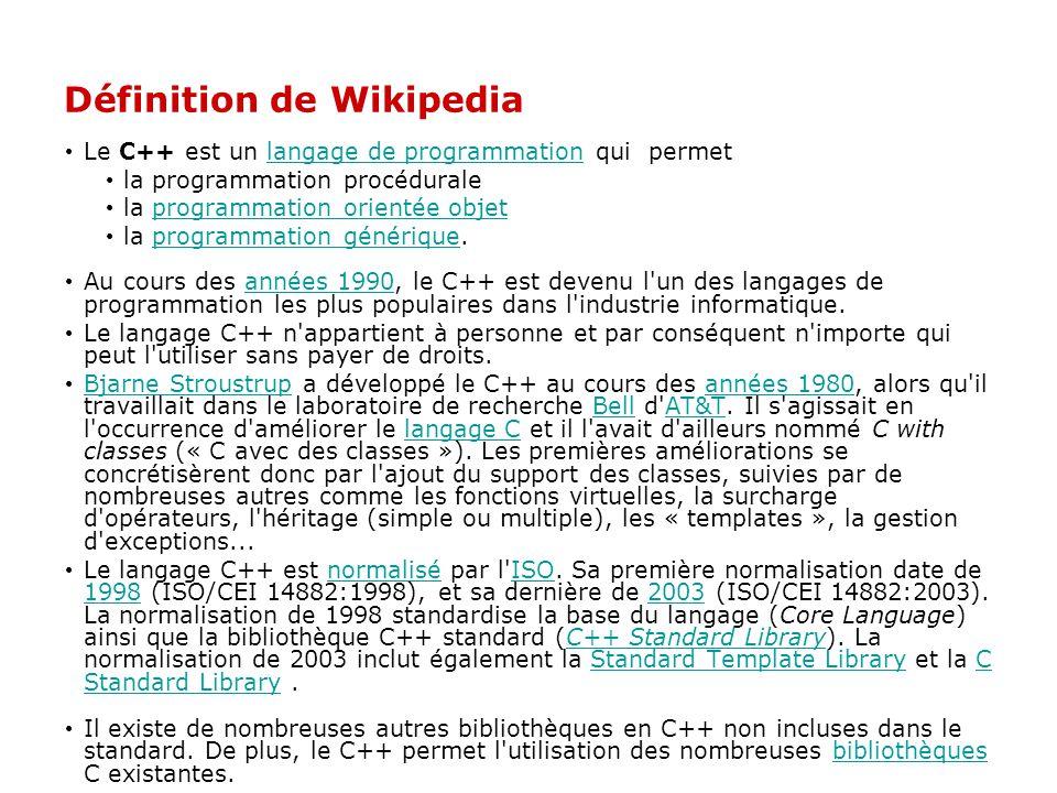 Définition de Wikipedia