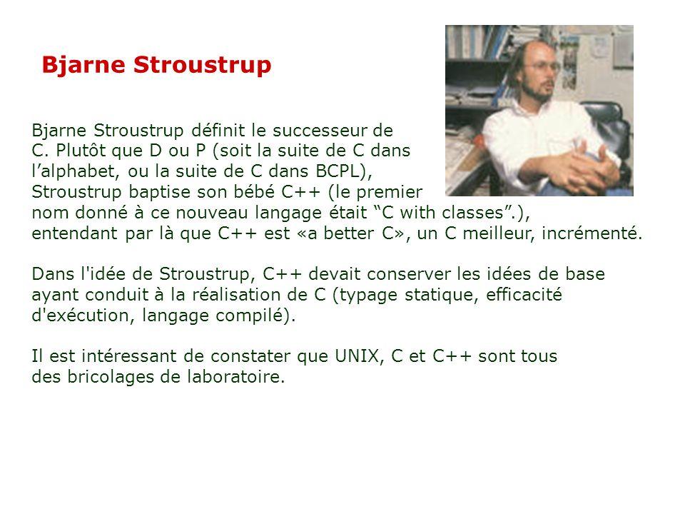 Bjarne Stroustrup Bjarne Stroustrup définit le successeur de