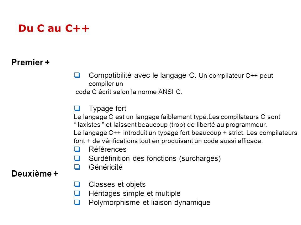 Du C au C++ Premier + Deuxième +