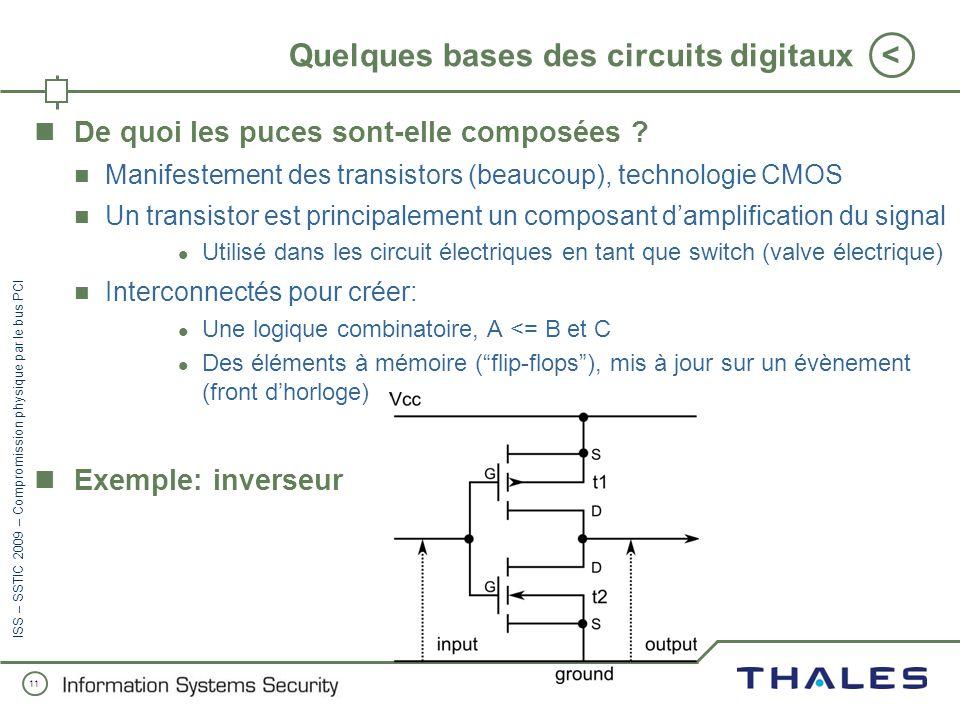 Quelques bases des circuits digitaux