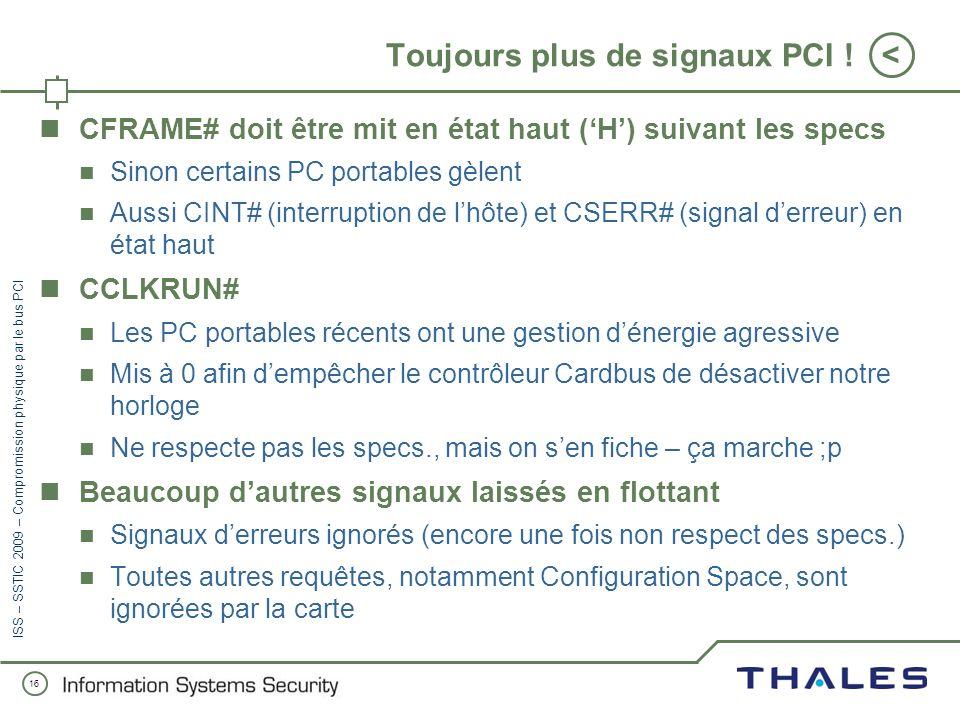 Toujours plus de signaux PCI !