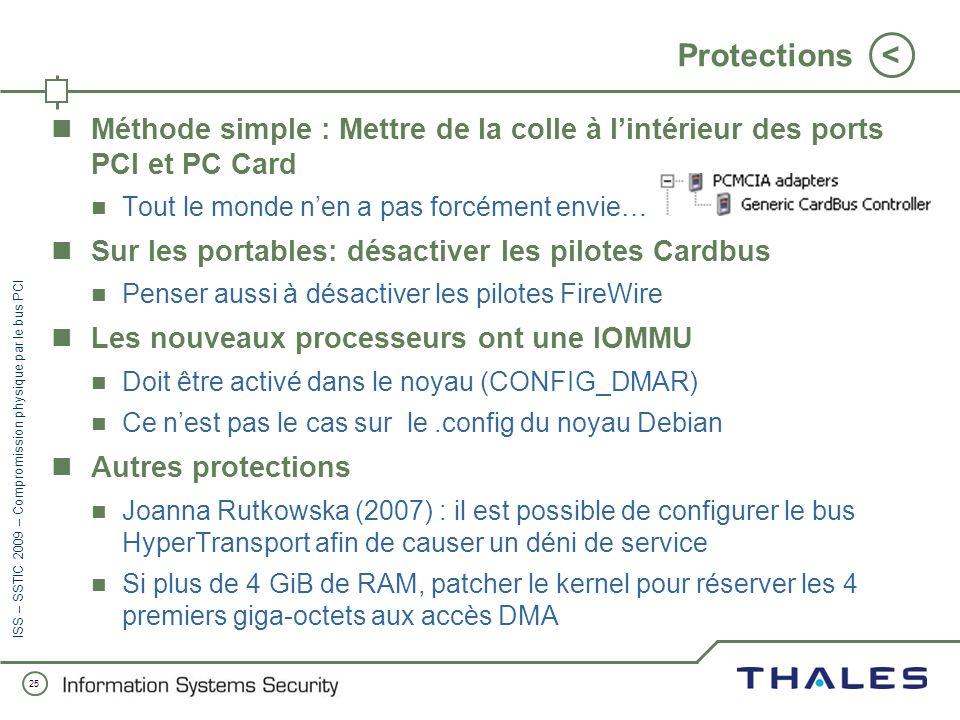 Protections Méthode simple : Mettre de la colle à l'intérieur des ports PCI et PC Card. Tout le monde n'en a pas forcément envie…