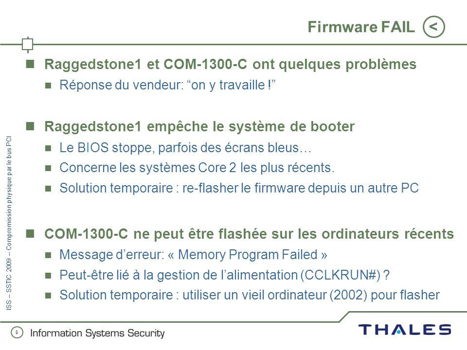 Firmware FAIL Raggedstone1 et COM-1300-C ont quelques problèmes