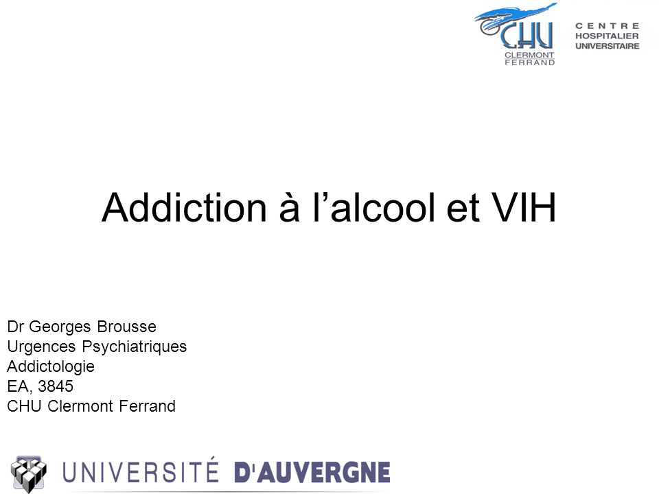 Addiction à l'alcool et VIH