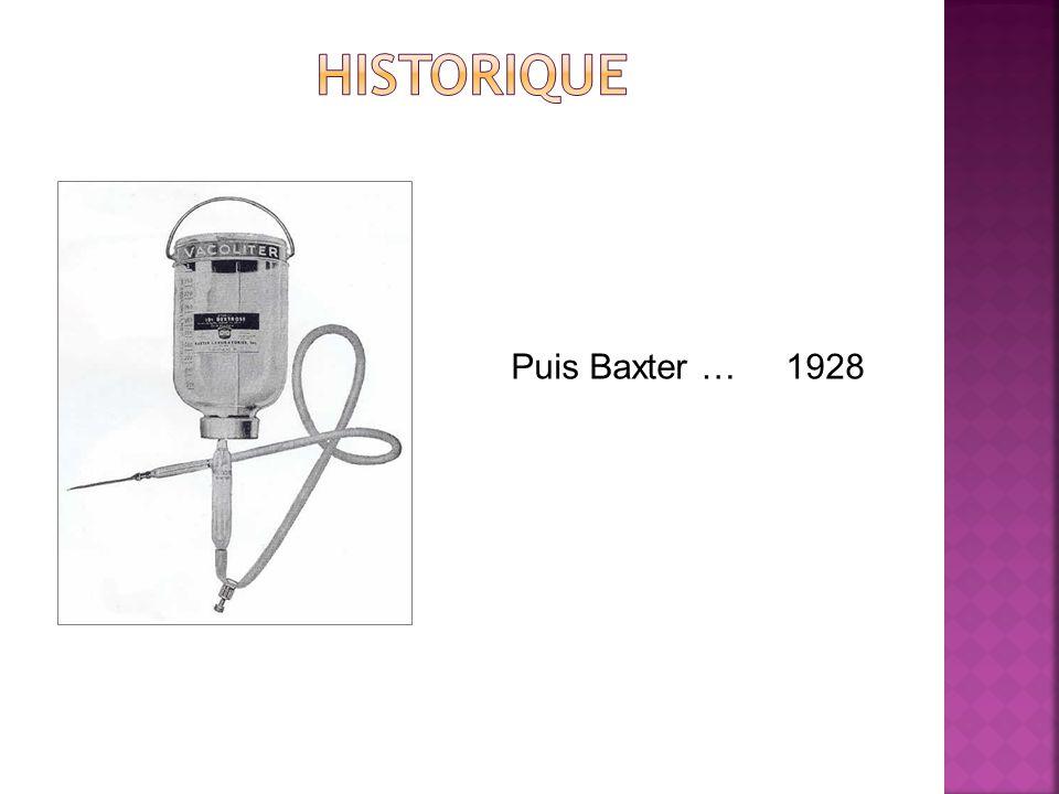 historique Puis Baxter … 1928