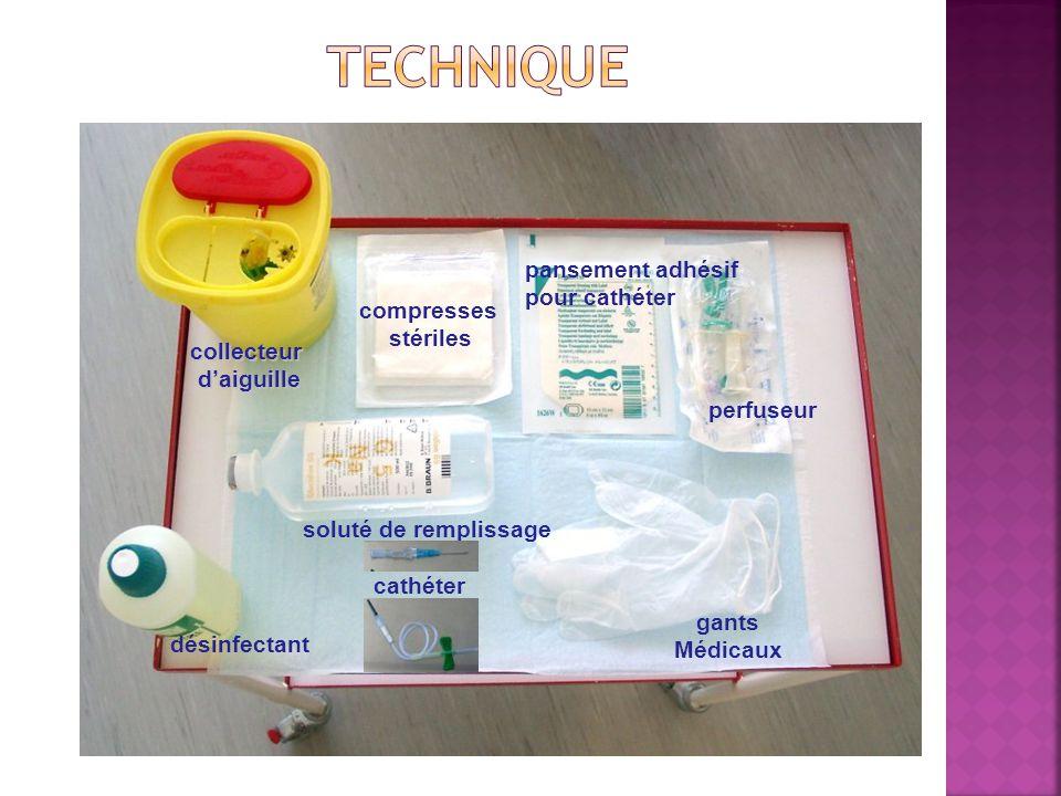 technique pansement adhésif pour cathéter compresses stériles