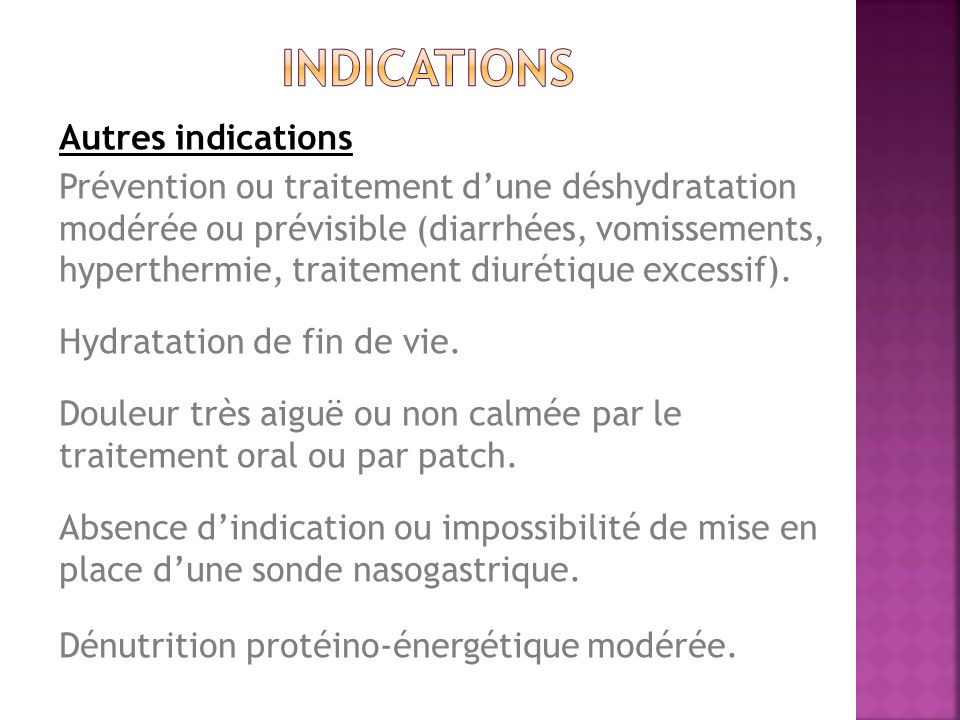 indications Autres indications