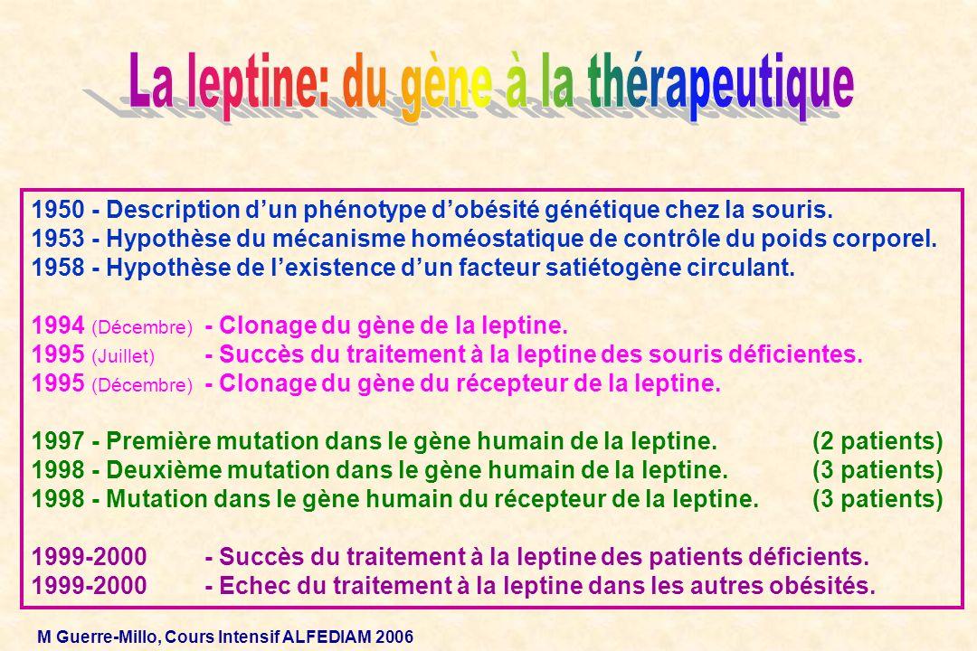 La leptine: du gène à la thérapeutique