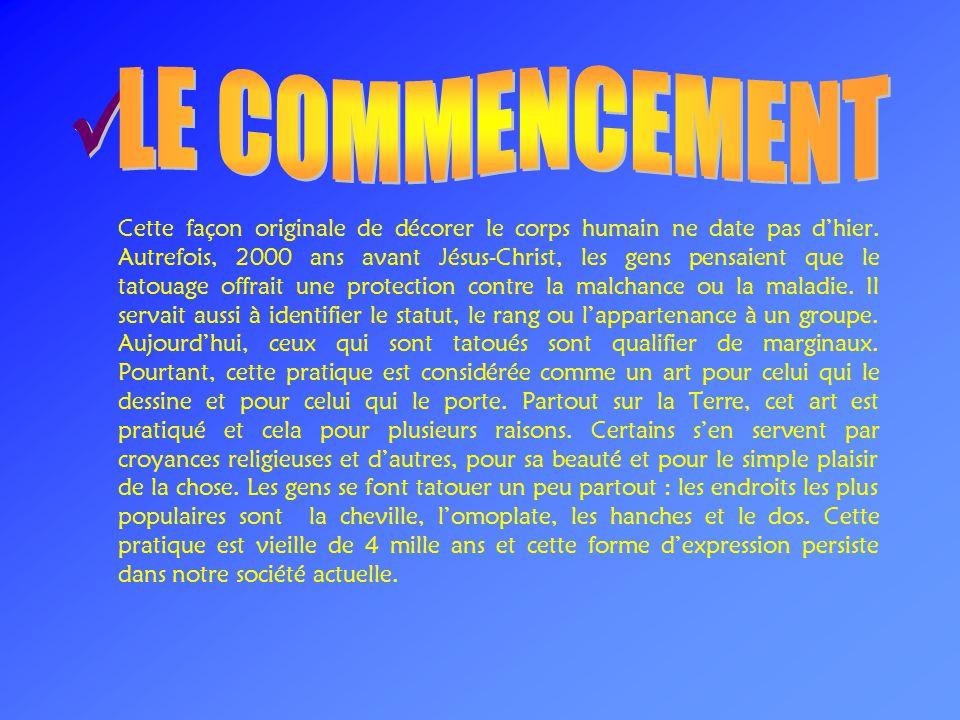 LE COMMENCEMENT