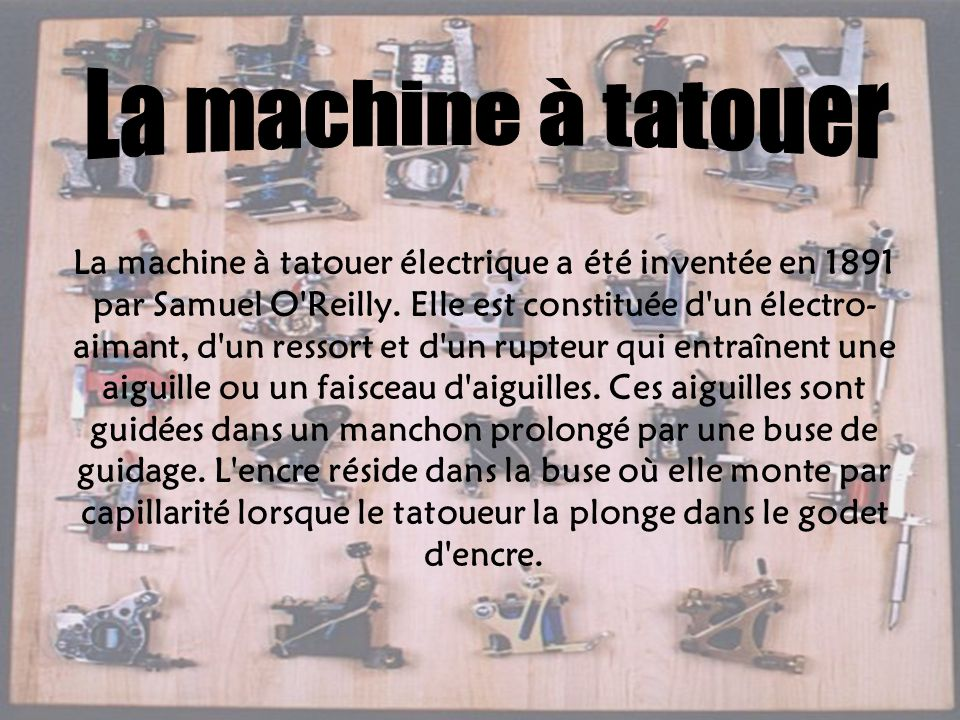 La machine à tatouer