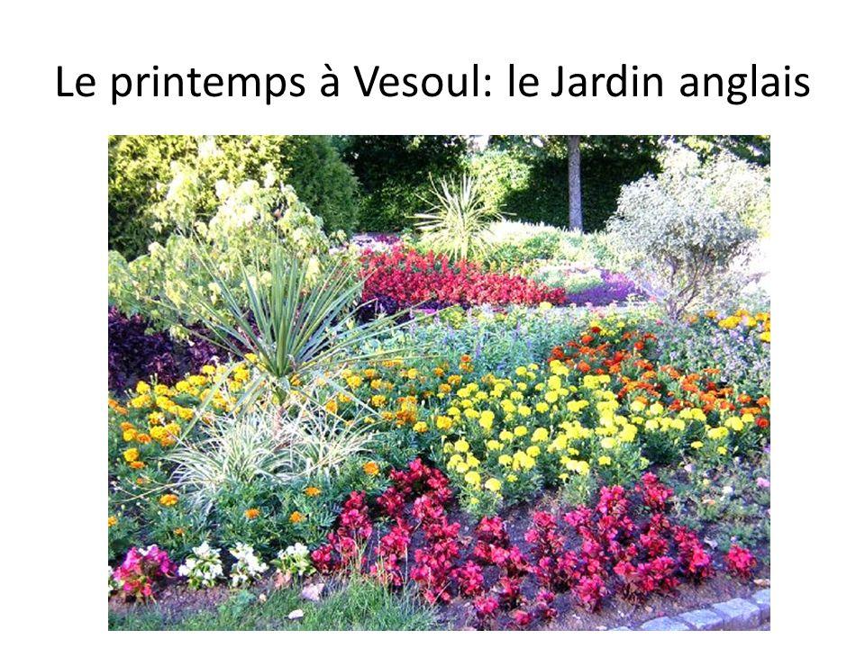 Le printemps à Vesoul: le Jardin anglais