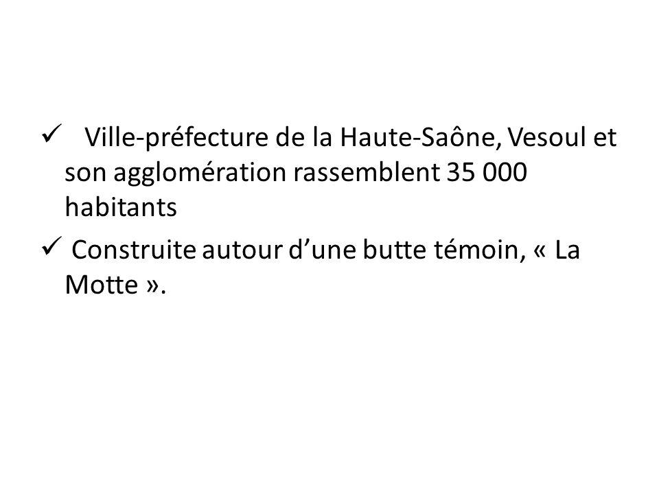 Ville-préfecture de la Haute-Saône, Vesoul et son agglomération rassemblent 35 000 habitants