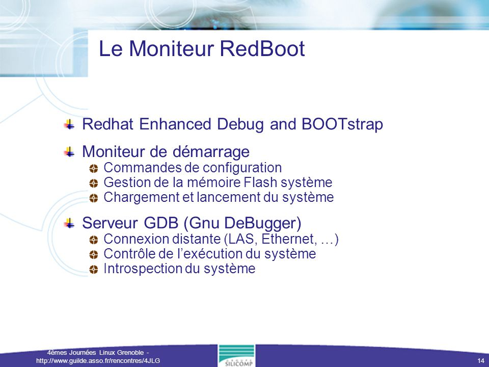 Le Moniteur RedBoot Redhat Enhanced Debug and BOOTstrap