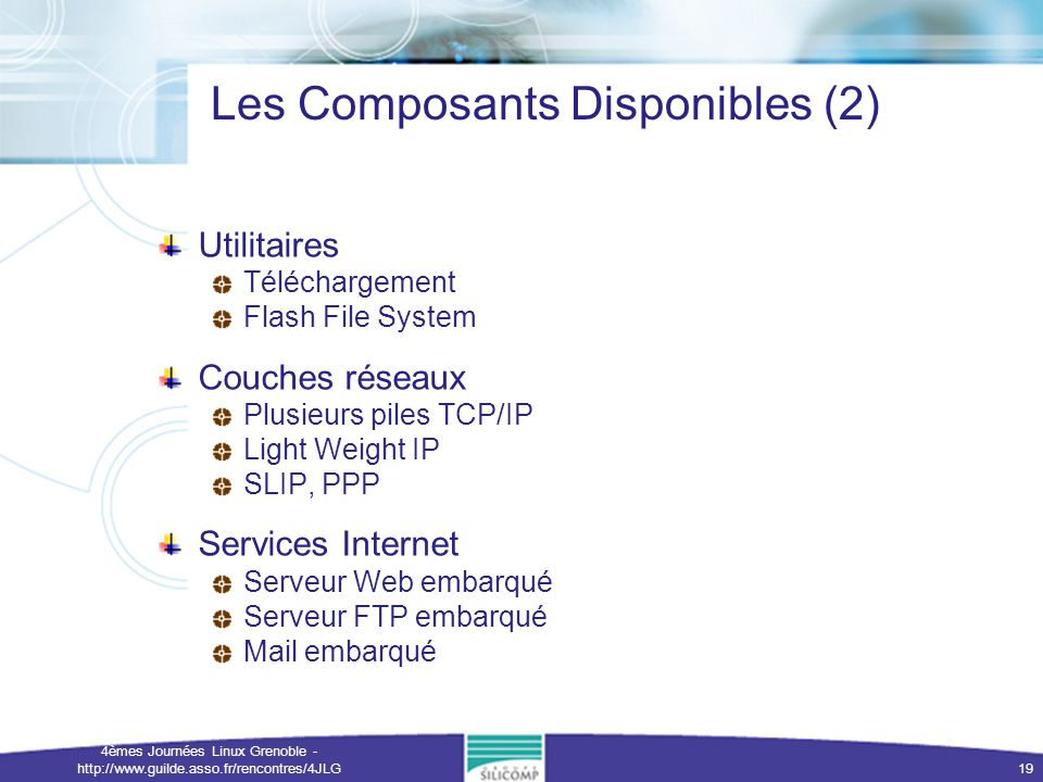 Les Composants Disponibles (2)