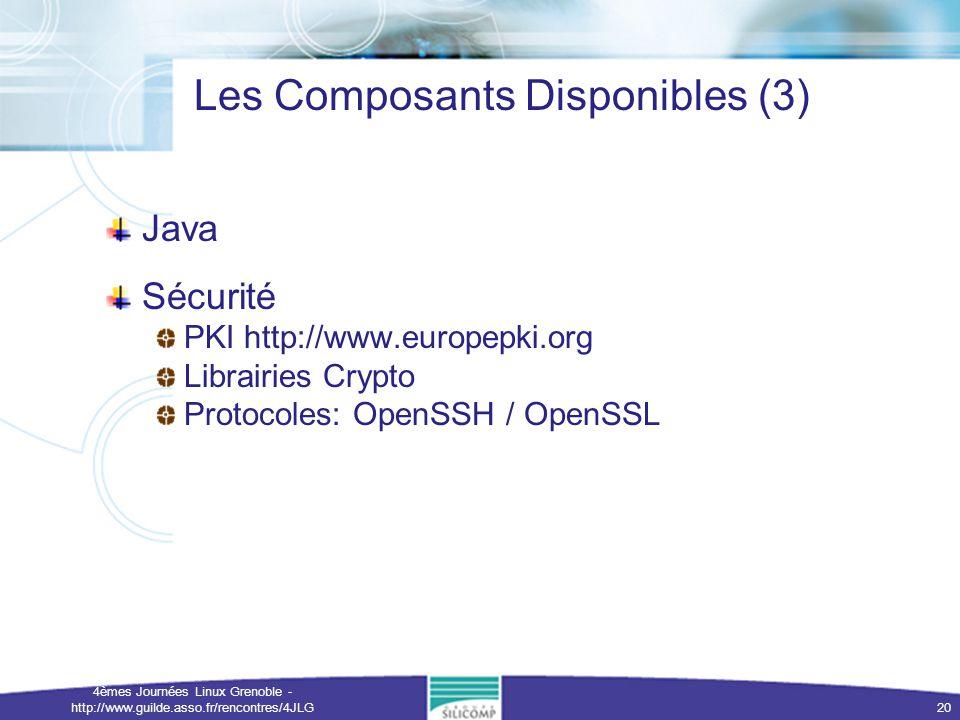 Les Composants Disponibles (3)