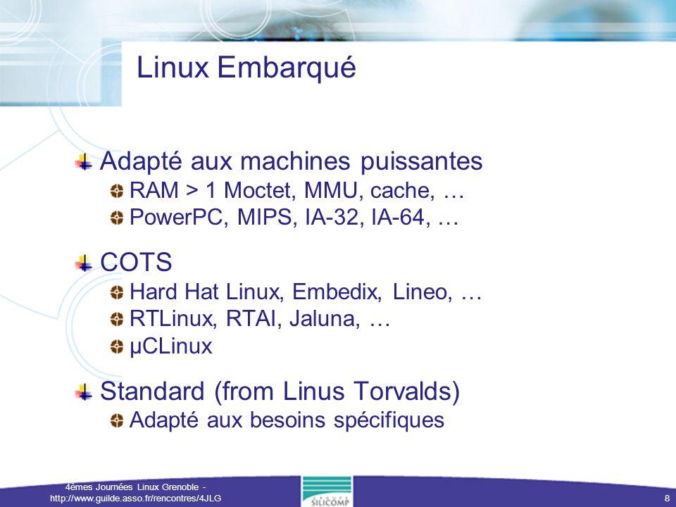 Linux Embarqué Adapté aux machines puissantes COTS