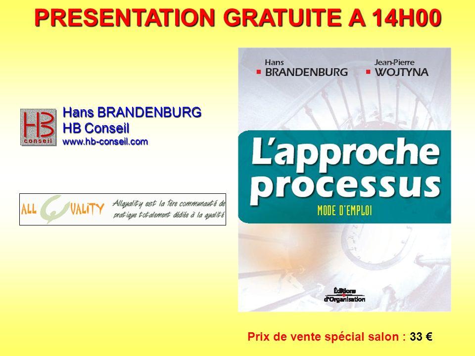 PRESENTATION GRATUITE A 14H00