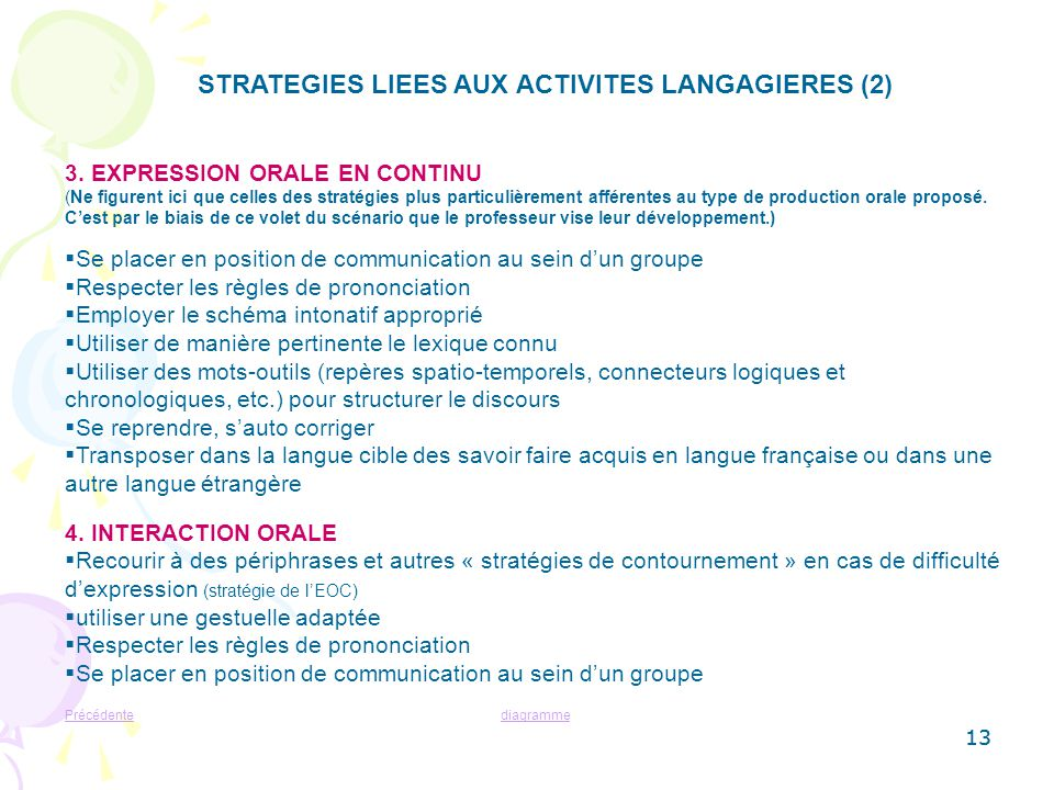 STRATEGIES LIEES AUX ACTIVITES LANGAGIERES (2)