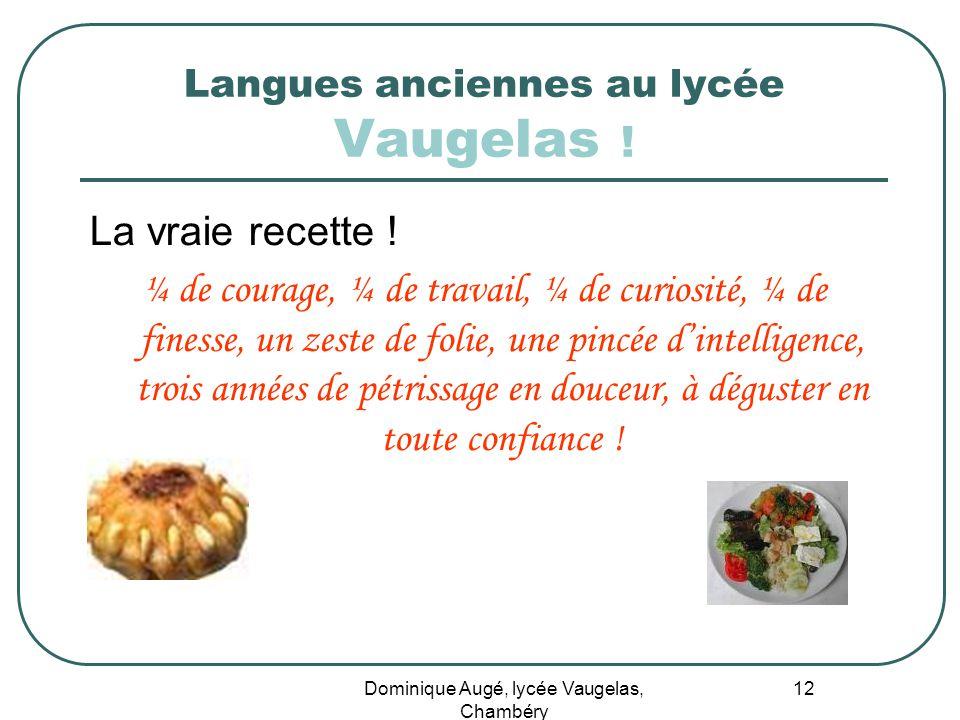 Langues anciennes au lycée Vaugelas !