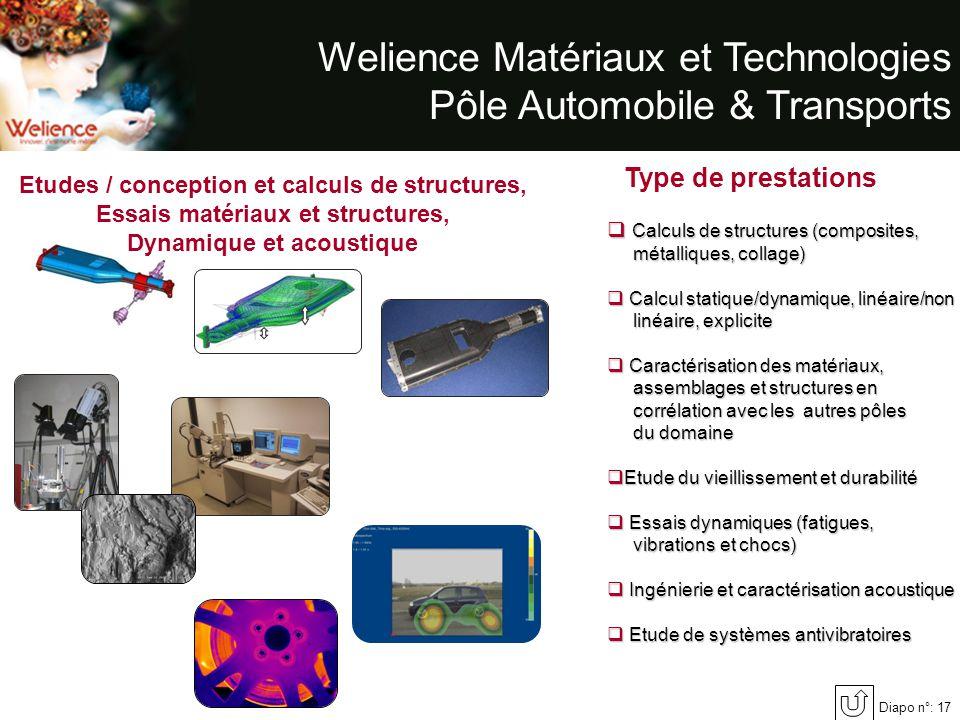 Welience Matériaux et Technologies Pôle Automobile & Transports