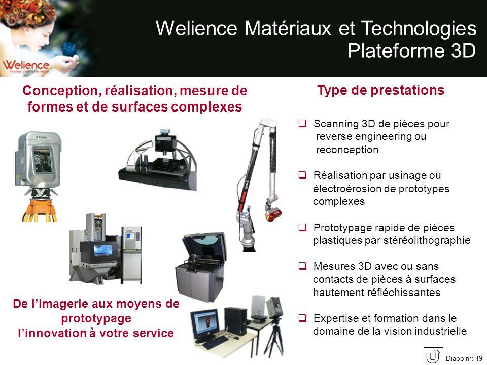 Welience Matériaux et Technologies Plateforme 3D