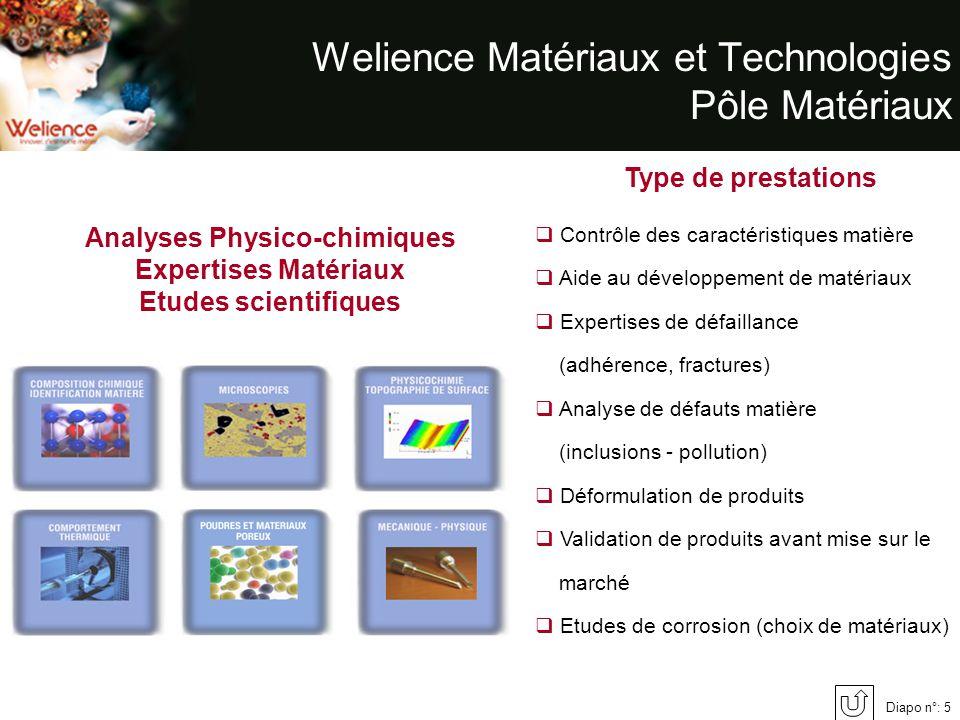 Welience Matériaux et Technologies Pôle Matériaux