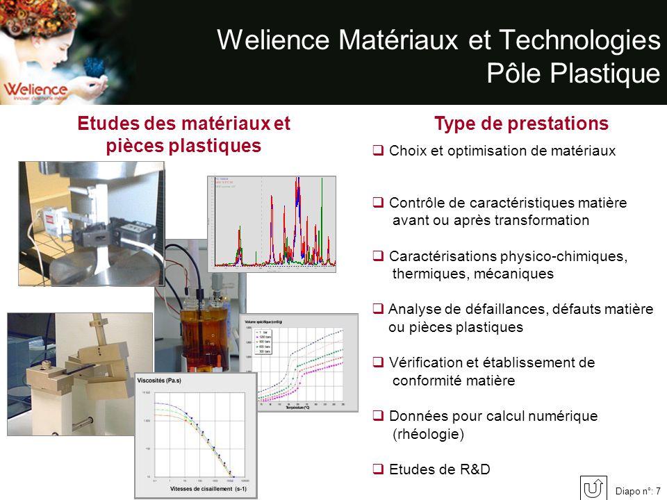 Welience Matériaux et Technologies Pôle Plastique
