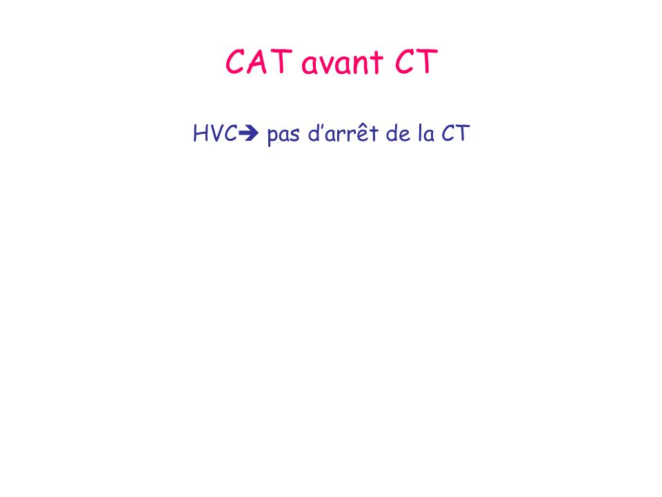 HVC pas d'arrêt de la CT